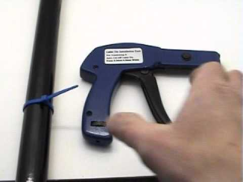 Cable Tie Installation Tool Demo Youtube