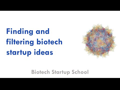 Coming up with ideas for biotech startups