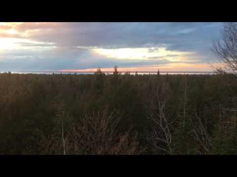 Sunset Over the Straits of Mackinac
