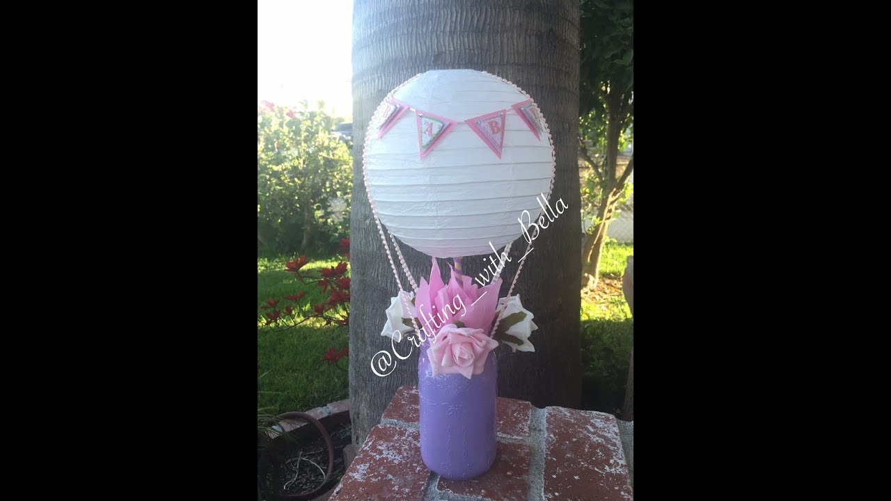 Hot air balloon mason jar centerpiece youtube