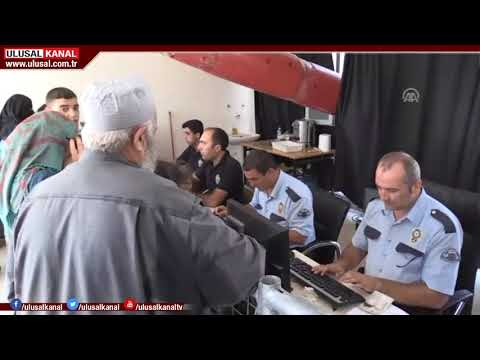 Suriyeliler, Kilis'teki Öncüpınar Sınır Kapısı'na akın etti