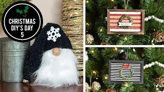 DIY Dollar Tree Gnome and Christmas Ornaments - Christmas DIY's Day 5