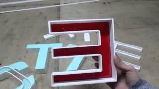 видео объемные буквы