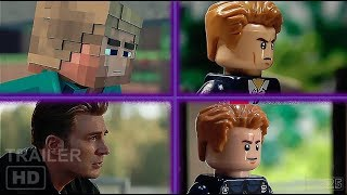 Avengers Endgame Trailers (Lego, Minecraft, Marvel) Compilation