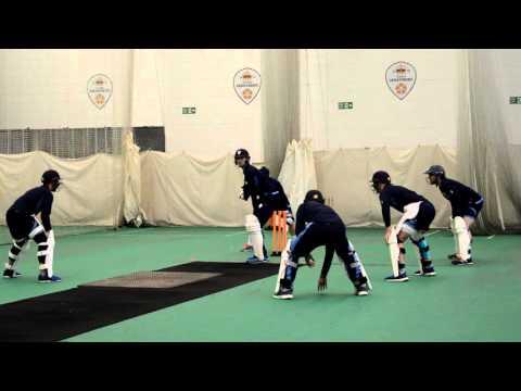 #InsideDerbyshire: Batsmen practice versus spin bowling