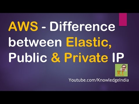 AWS - Difference between Elastic, Public & Private IP