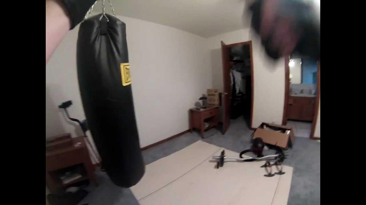Hitting 100 Pound Heavy Bag