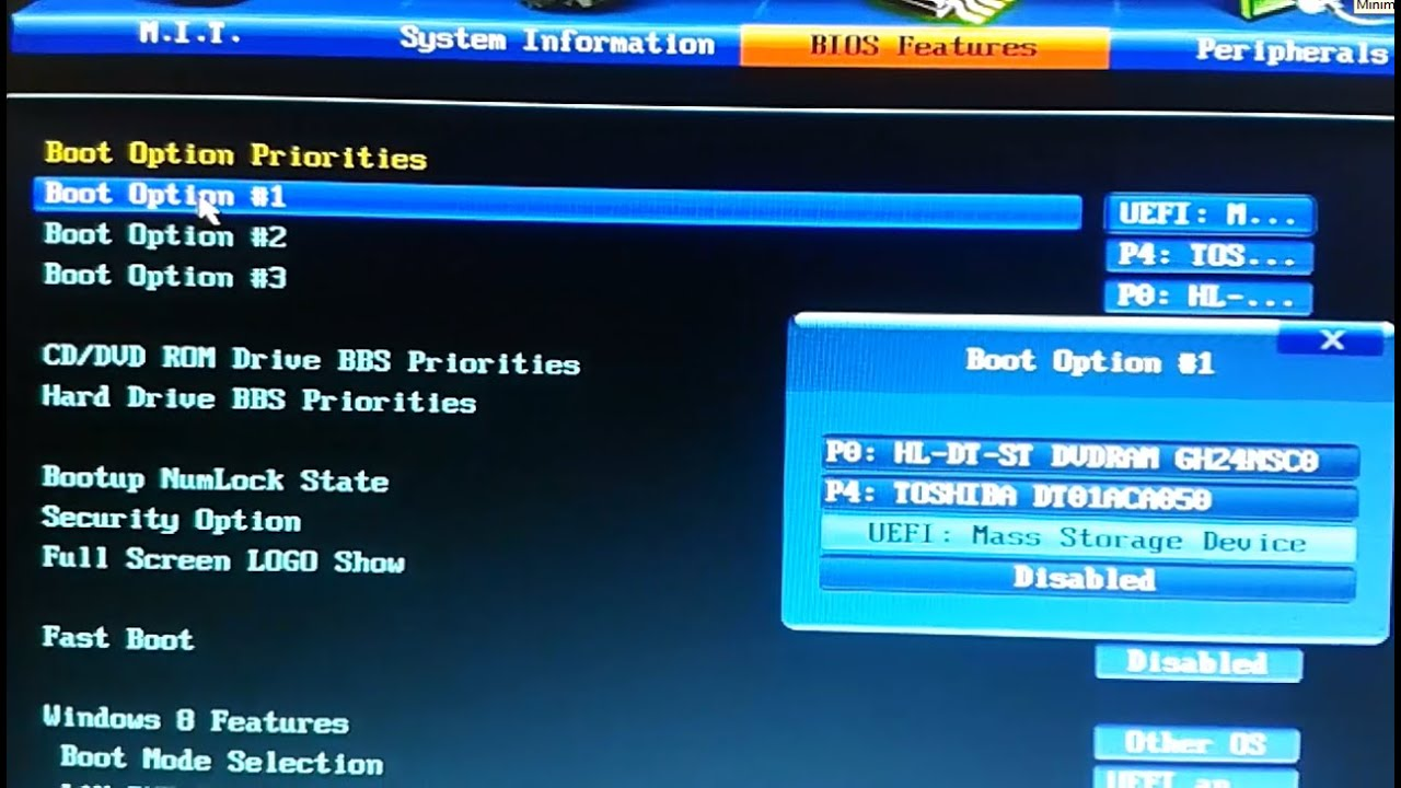 Restore and configure your PC 's BIOS to boot from USB , CD- DVD