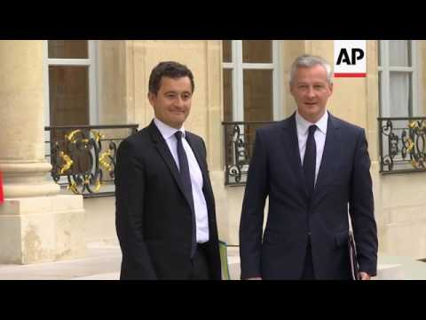 France ministers arrive for first Macron cabinet