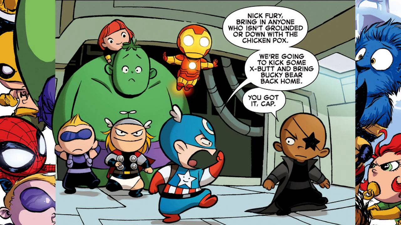 Baby Avengers mini mission to save Bucky Bear