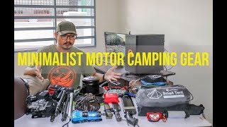 Everything I Pack on a Motorcycle Camping Minimalist - Gear Load-out