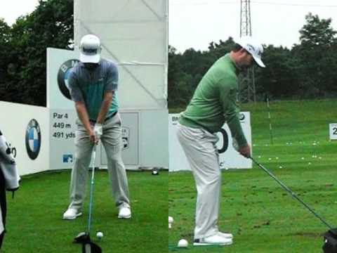Branden Grace golf swing (face-on and dtl) Driver, BMW PGA Wentworth, May 2017.