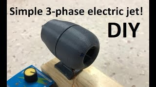 3D-printed  3-phase electric JET  motor build!