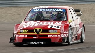 Alfa Romeo 155 V6 Ti (DTM) - Track action, street circuit and Pure Sound!