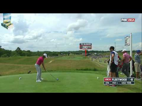 Tommy Fleetwood's Flawless Golf Shots 2017 US Open USGA Erin Hills