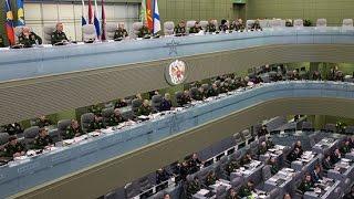 Селекторное совещание под руководством Министра обороны РФ С. Шойгу