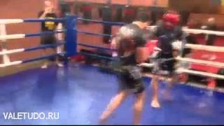 Alexander Shlemenko sparring with Mamed Khalidov