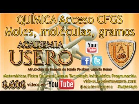 Moles Y Gramos Quimica Acceso Ciclos Formativos Grado