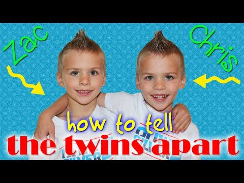 How To Tell The Twins Apart || Chris & Zac, Identical Twin Boys