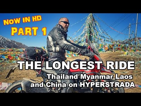 The Longest RIDE: Bangkok to Shangri La in China by Motorcycle  Pt. 1 HD 🏍