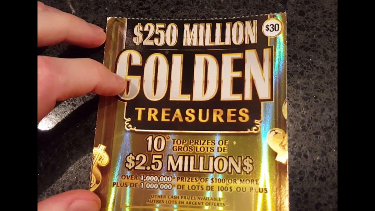 Golden Treasures Scratch Ticket