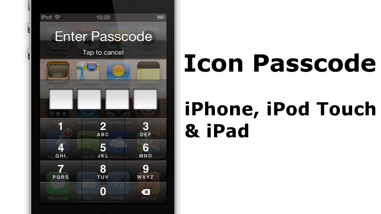 how to find out password for ipod touch