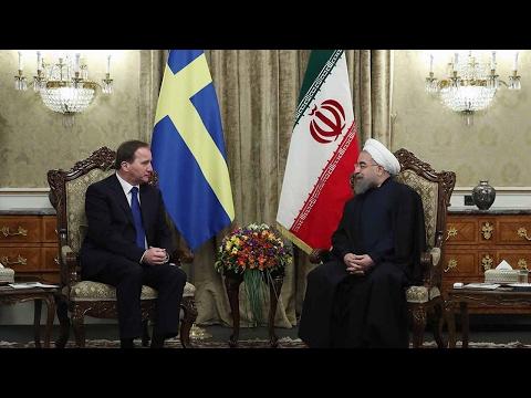 Swedish PM meets Iranian president in Tehran to restore ties