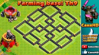Clash Of Clans - TH9 Farming Base ANTI EVERYTHING! CoC BEST Town Hall 9 Defense 2016