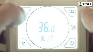 ТЕСЛА   Расширенные настройки программируемого терморегулятора с сенсорным экраном РТС 3