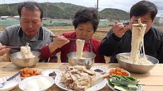 삼계탕?? 아니고 [[닭국수(Noodles with chicken)]]! 요리&먹방!! - Mukbang eating show