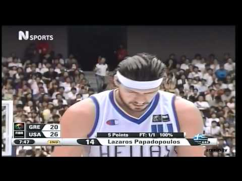 Greece vs USA 101-95 Basketball World Championship 2006