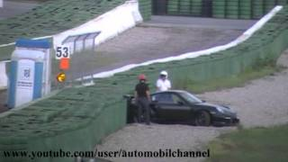 PORSCHE GT2 CRASH UNFALL Hockenheimring 2009 Accident Chute.mpg