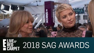 kate hudson goldie hawn on learning from each other e live from the red carpet