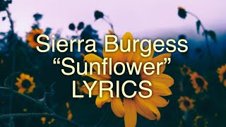 Gambar cover Sierra Burgess - Sunflower Lyrics (Sierra Burgess is a loser)