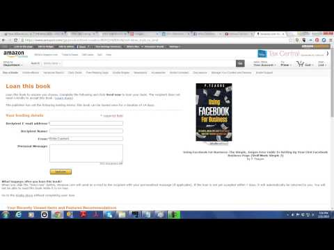 How To Loan A Kindle Book To Anyone