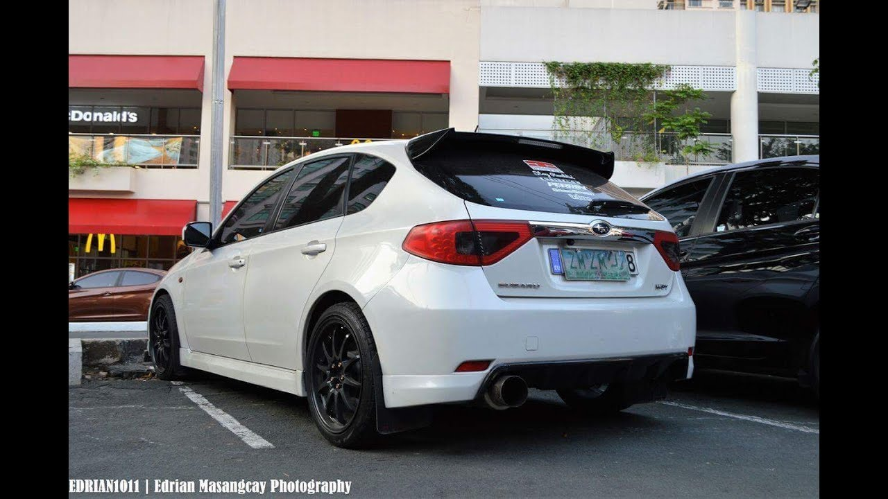 Modified Subaru Wrx Hatchback With Carbon Fiber Parts