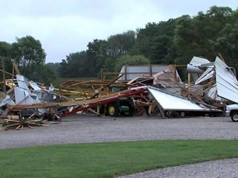 Indiana Residents Wake Up To Tornado Damage
