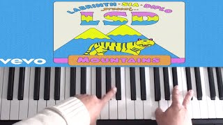 LSD Mountains ft. Sia, Diplo, Labrinth Piano Tutorial