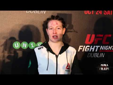 Aisling Daly UFC Fight Night Dublin Post Fight Media Scrum