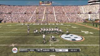 NCAA Football 11 Game Highlights (PS3) - Oregon vs Auburn