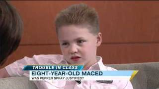 Pepper Sprayed 8-Year-Old Boy Speaks Out on 'GMA' (04.06.11)
