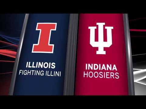 Big Ten Basketball Highlights - Illinois at Indiana