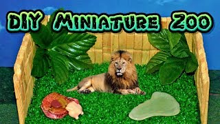 DIY Miniature Zoo Diorama Craft 🦁 How to Make LPS Stuff Barbie Doll Accessories Dollhouse Things