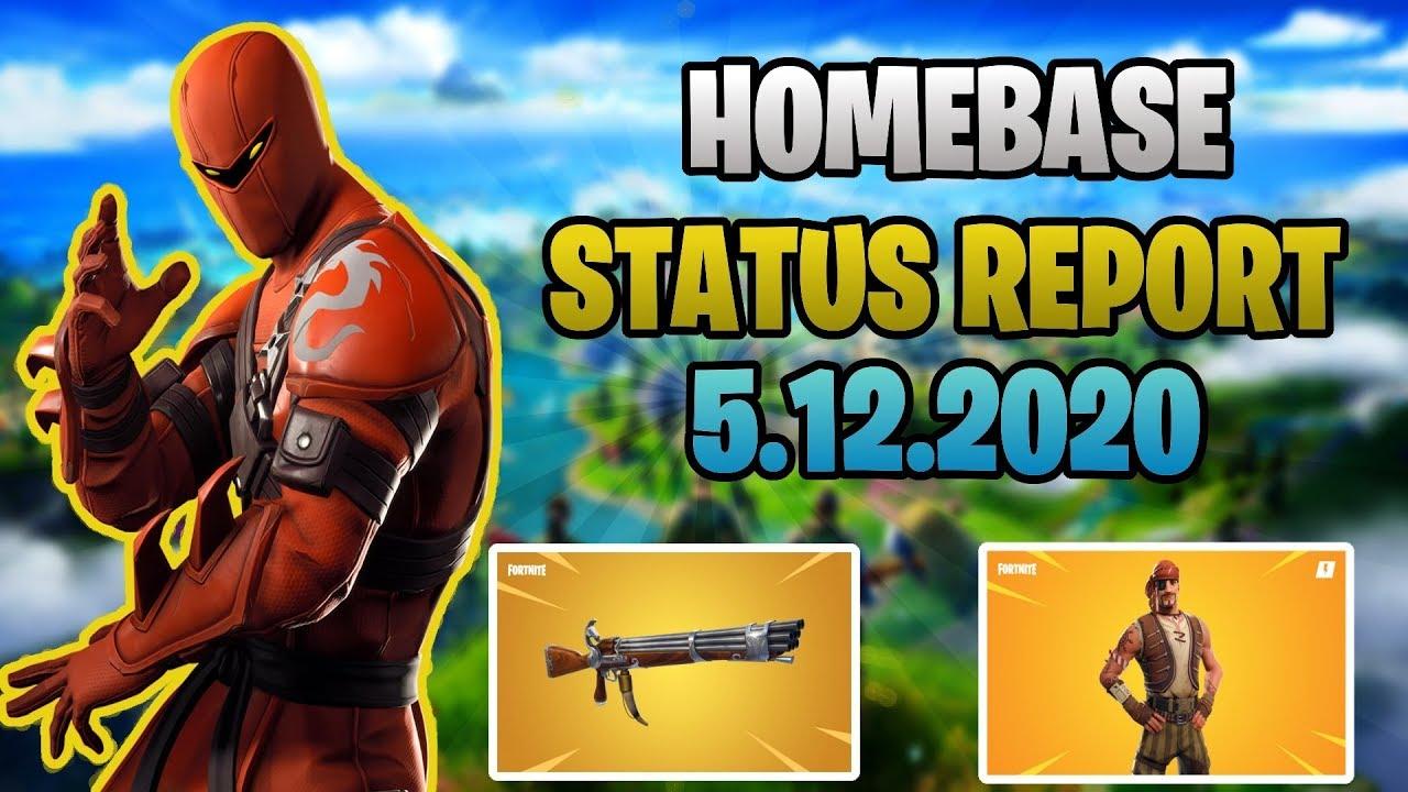 Fortnite Stw: Homebase status report 5.12.2020 - YouTube