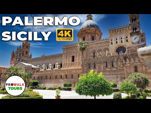 Palermo, Sicily Walking Tour - With Captions - 4K