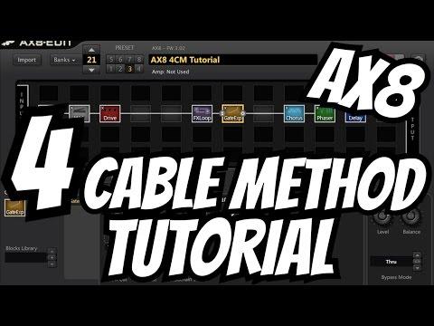 Fractal Audio AX8: 4 Cable Method Tutorial [Physical Setup + AX8-Edit Setup]