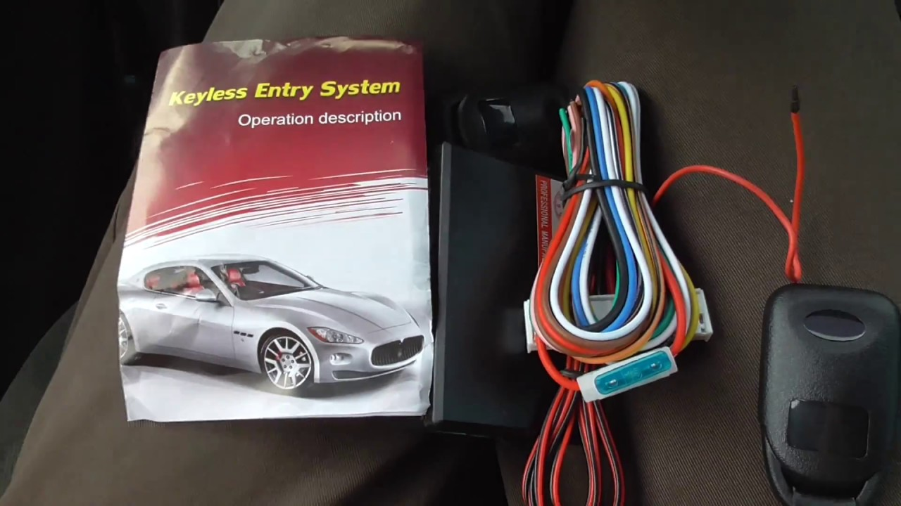 Car Keyless Entry System Components Manual Partial Test Youtube Alarm Wiring Diagram Generic