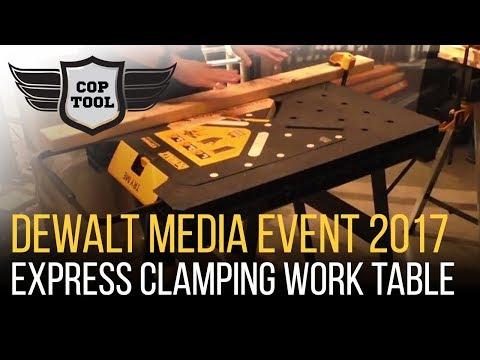 Dewalt Express Clamping Work Table 1000lbs Capacity $69 - Dewalt Media Event 2017