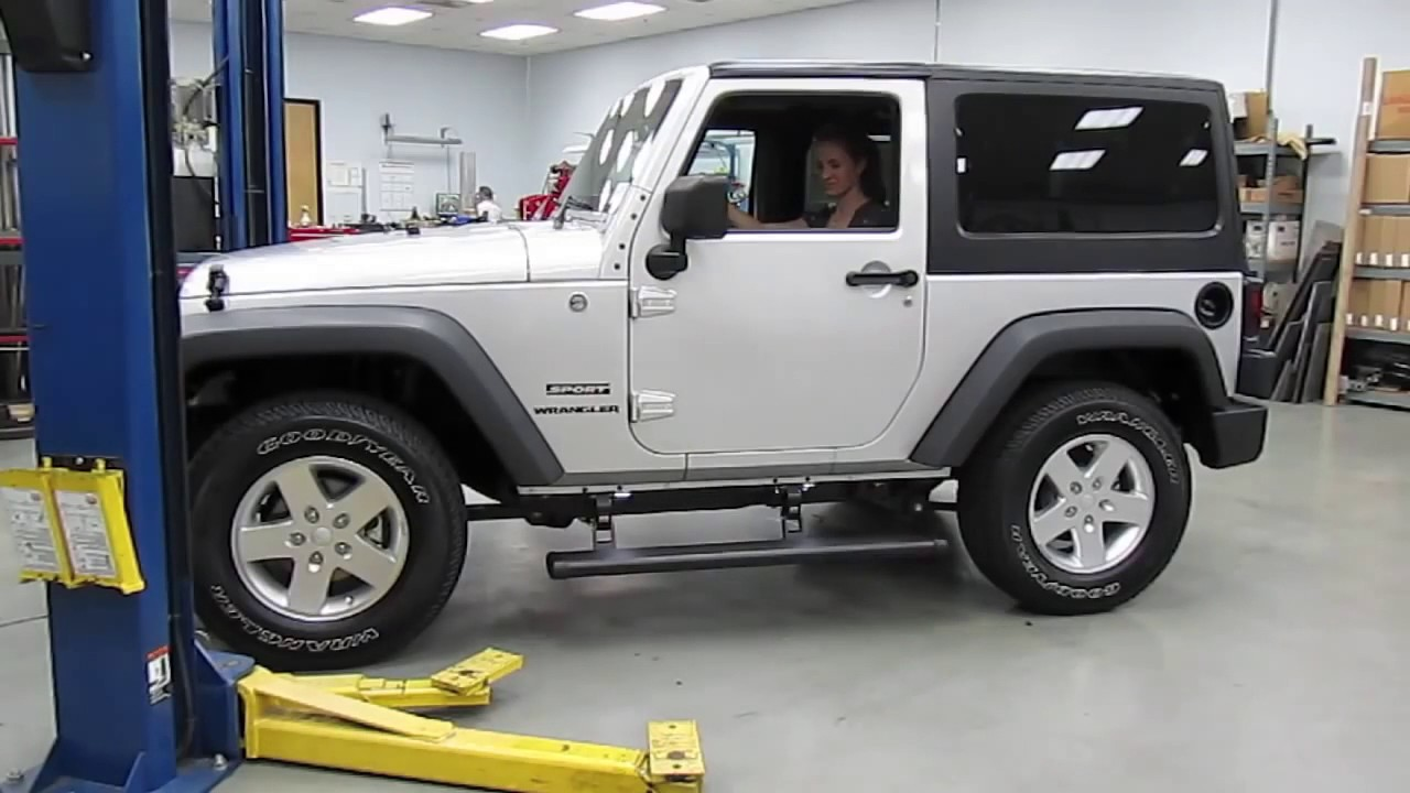 Amp Research Step Bars 2 Door Jeep Jk Demo