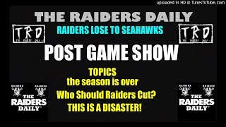#RAIDERS LOSE TO SEATTLE!  INSTANT REACTION SHOW